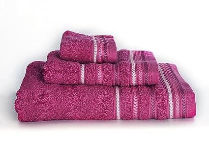 Juego toallas 3 piezas. 100% algodón ALTA CALIDAD. Densidad 520 gr/m2