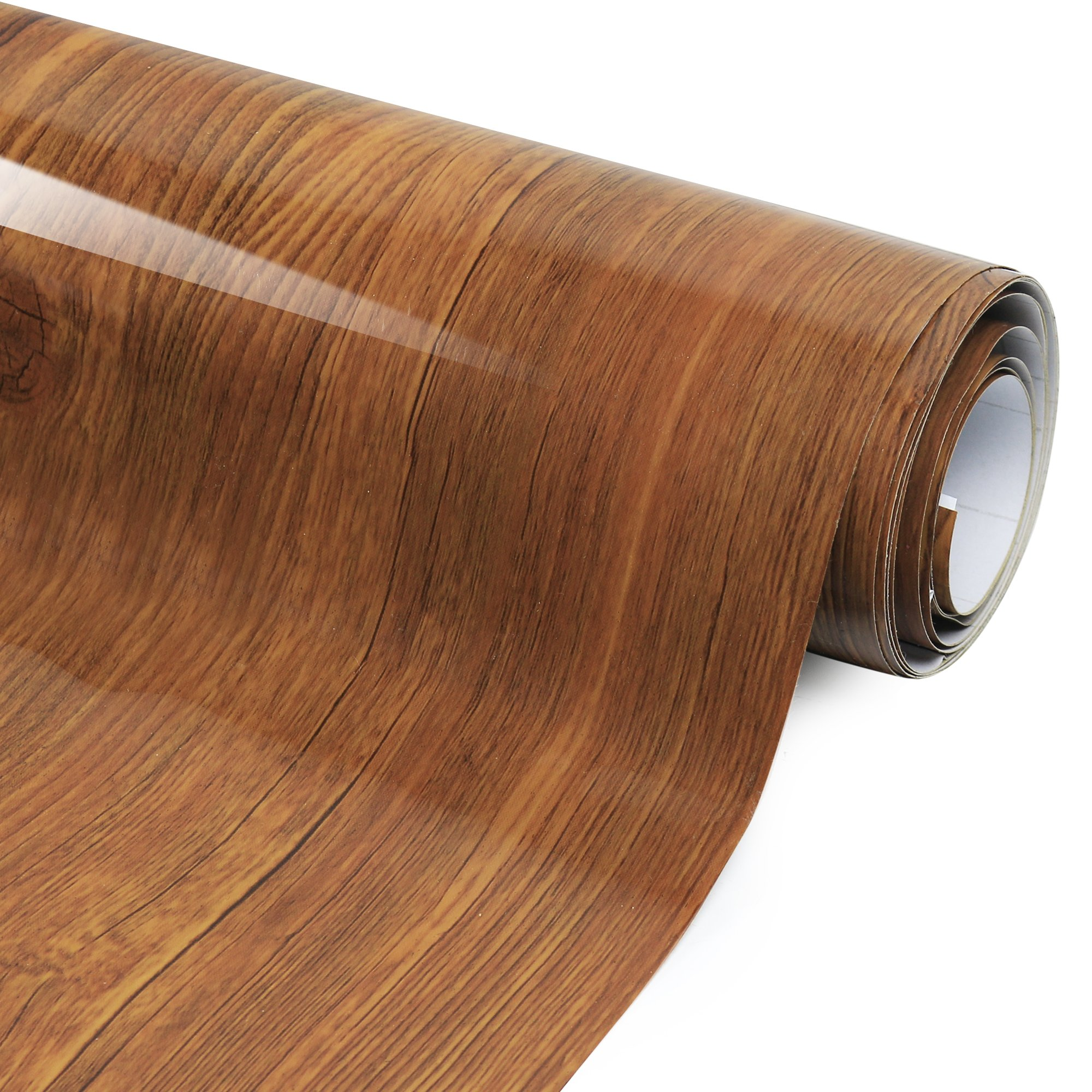 Adhesive Films Wood Grain High Gloss - Economical alternative to rehabilitate your countertops, backsplash and cabinets - (80'')
