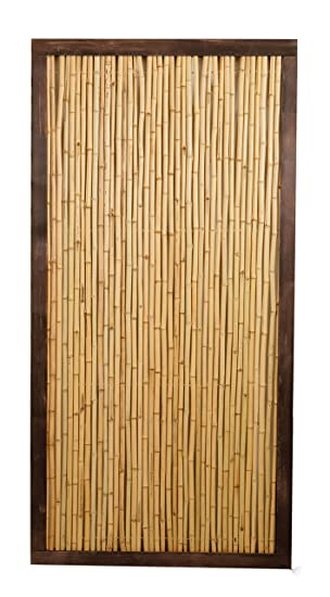 Bamboo Fence Panel With Frame   6ft X 3ft