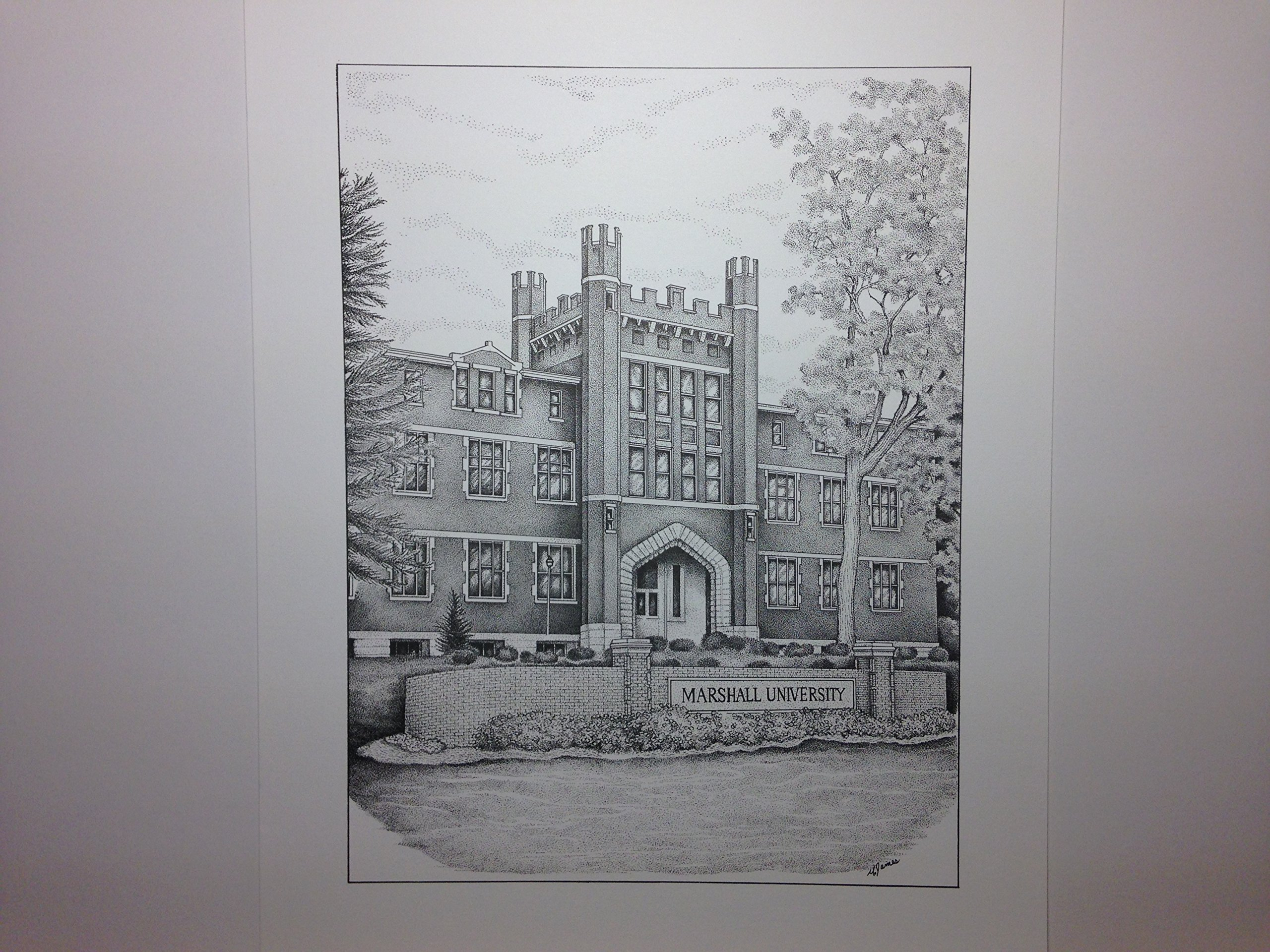 Marshall University - ''Old Main'' 9''x12'' pen and ink print
