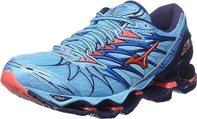 Mizuno Wave Prophecy 7 Wos, Zapatillas de Running para Mujer, Multicolor (Aquarius/hotcoral/patriotblue 65), 38.5 EU: Amazon.es: Zapatos y complementos