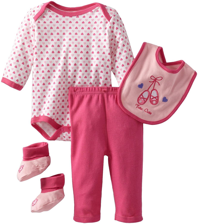 正規品! Bon S Bebe新生児女の子チュチュキュート4 Piece Pant Set S Pant マルチ Set B00D9ODTBQ, タテイワムラ:3a25f362 --- a0267596.xsph.ru