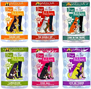 Weruva Dogs in the Kitchen Grain Free Wet Dog Food Variety Pack - 6 Flavors - 2.8 Ounces Each (6 Total Pouches)