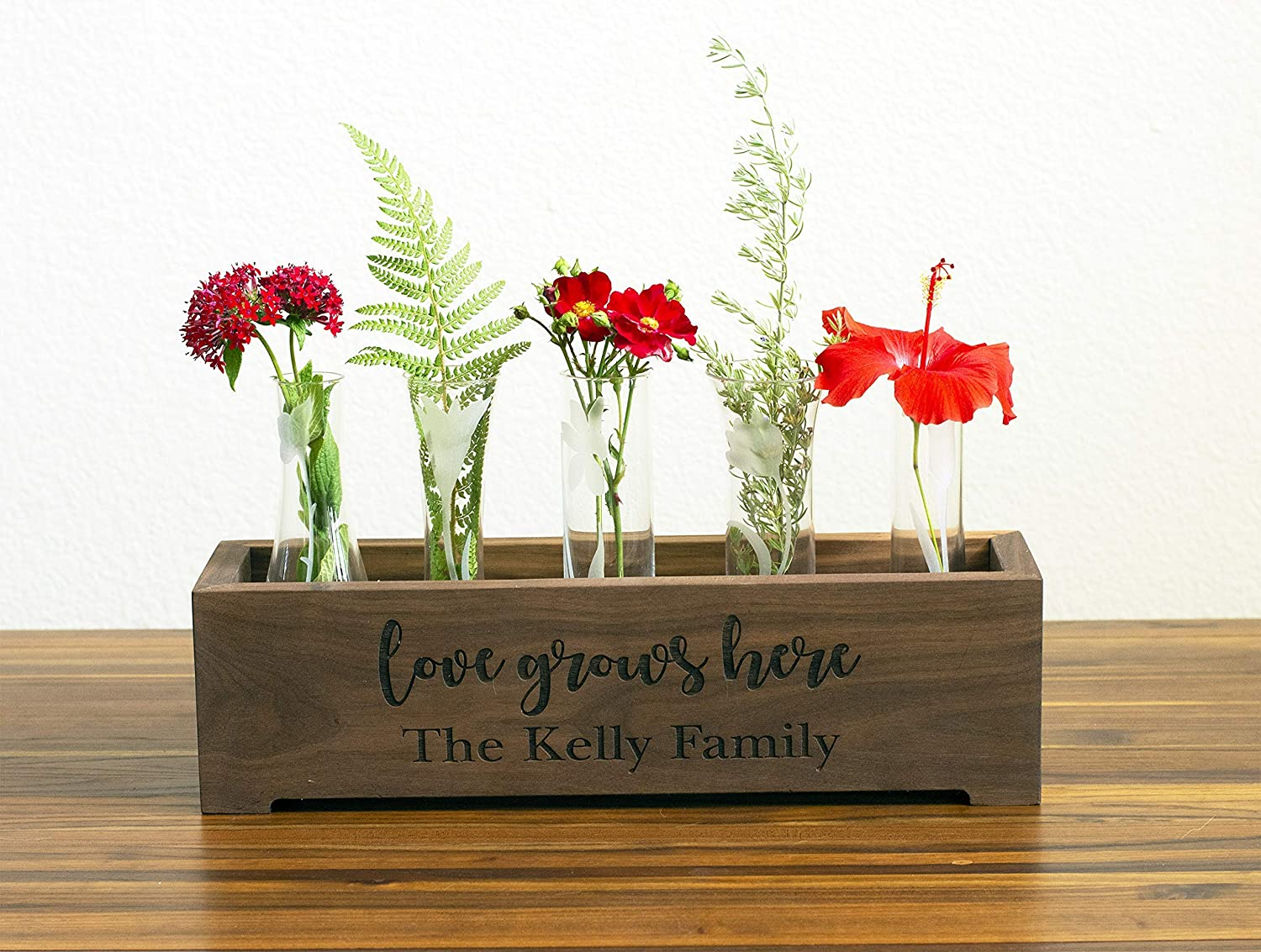 couple gift wedding gift Realtor Closing rustic wood planter Gift for grad wp024 Housewarming Gift Custom wood table centerpiece