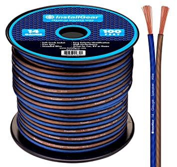Amazon.com: InstallGear 14 Gauge AWG 100ft Speaker Wire True Spec ...
