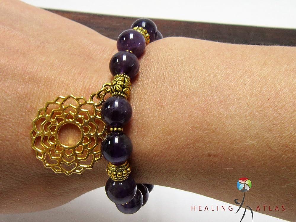 Crown Chakra Bracelet Sahasrara Bracelet Buddhist Jewelry Healing Jewelry Quality Spiritual Jewelry
