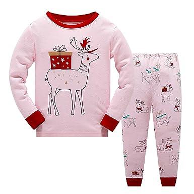 c92b803e1 Baby Boys Girls Christmas Pyjamas Sets Toddler Kids Childrens ...