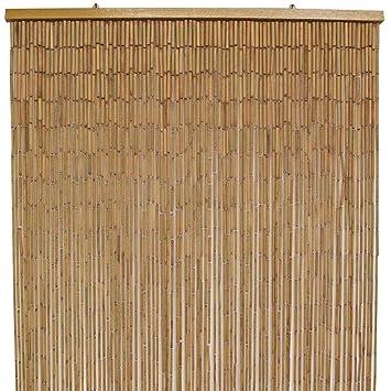 Bamboo Door Curtain, Natural   90x200cm