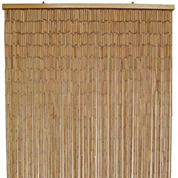 Bamboo Door Curtain, Natural - 90x200cm: Amazon.co.uk: Kitchen & Home