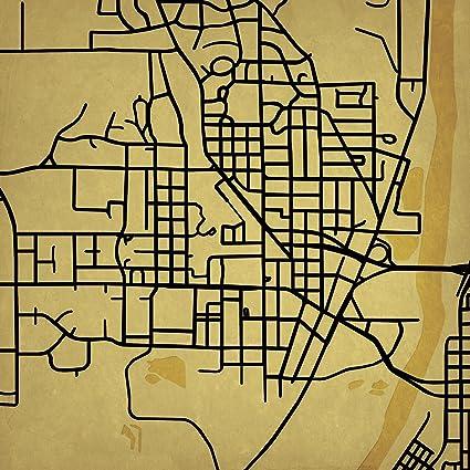 Amazon Com City Prints Purdue University Campus Map Art Unframed