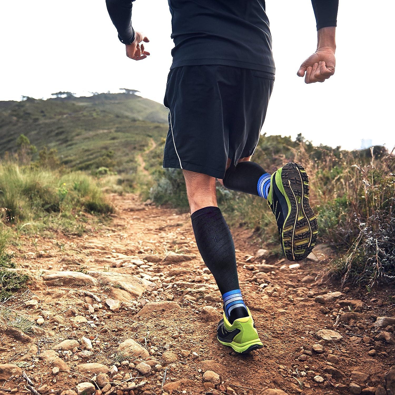 aZengear Calcetines de compresión - Calcetines de Vuelo para Hombres y Mujeres (de 20 a 30 mmHg), para Deporte, maratones, Enfermeras, estrés Tibial ...