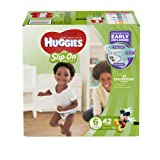 Amazon Price History for:HUGGIES Little Movers Slip On Diaper Pants, Size 6