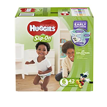 Amazon.com: HUGGIES Little Movers Slip On Diaper Pants, Size 6 ...