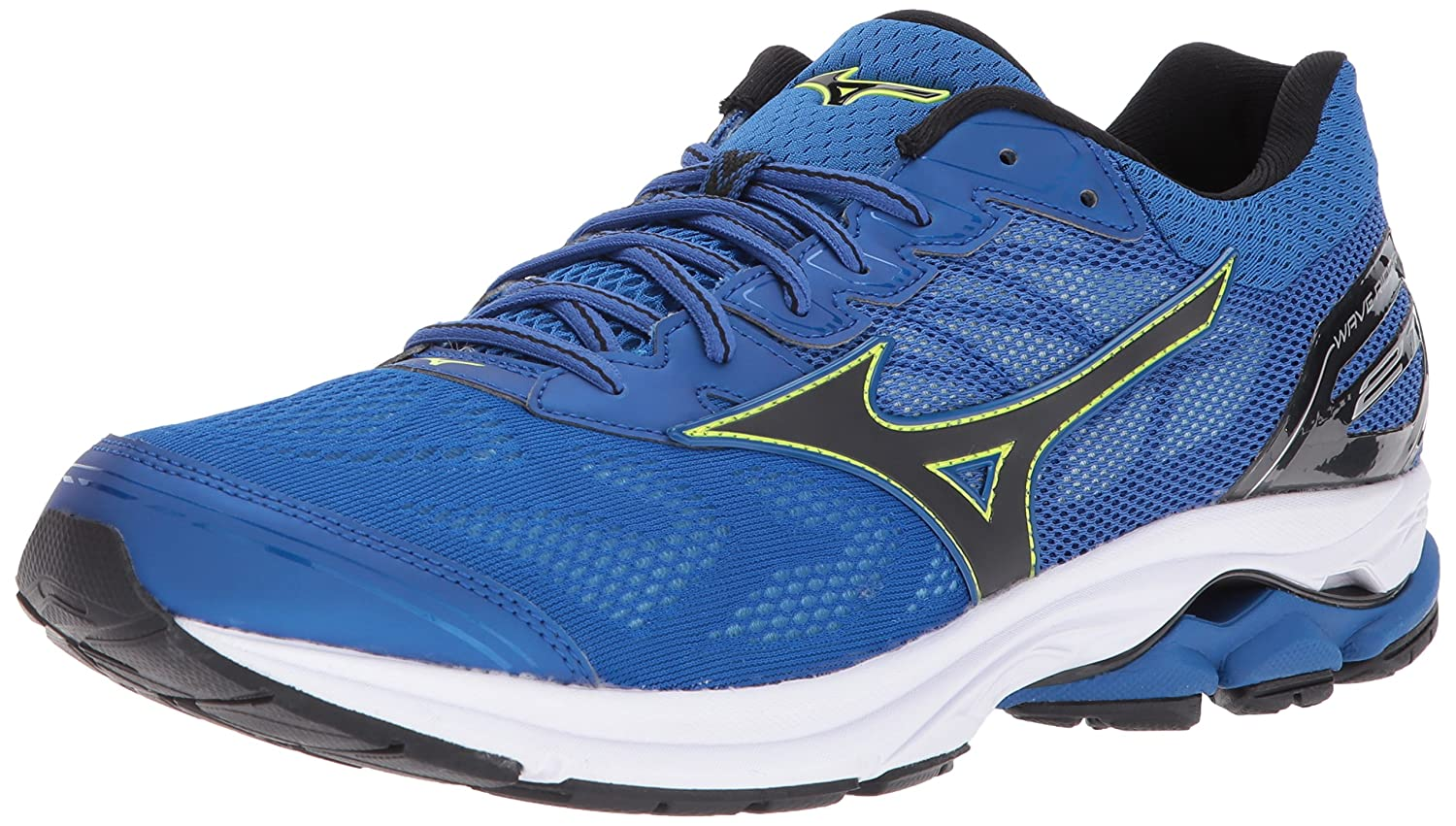 Classic bluee  Black Mizuno Mens Wave Rider 21 Running shoes