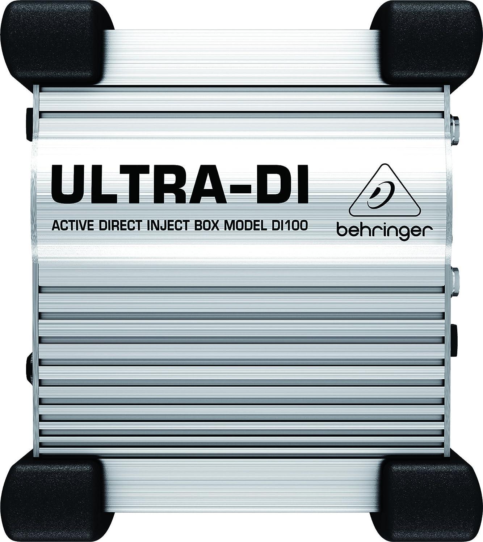 Professional Battery/Phantom Powered DI-Box Behringer DI100