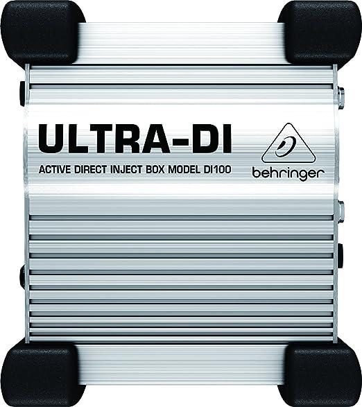 6 opinioni per Behringer ULTRA-DI DI100 D.I. BOX attiva multiuso professionale a batterie