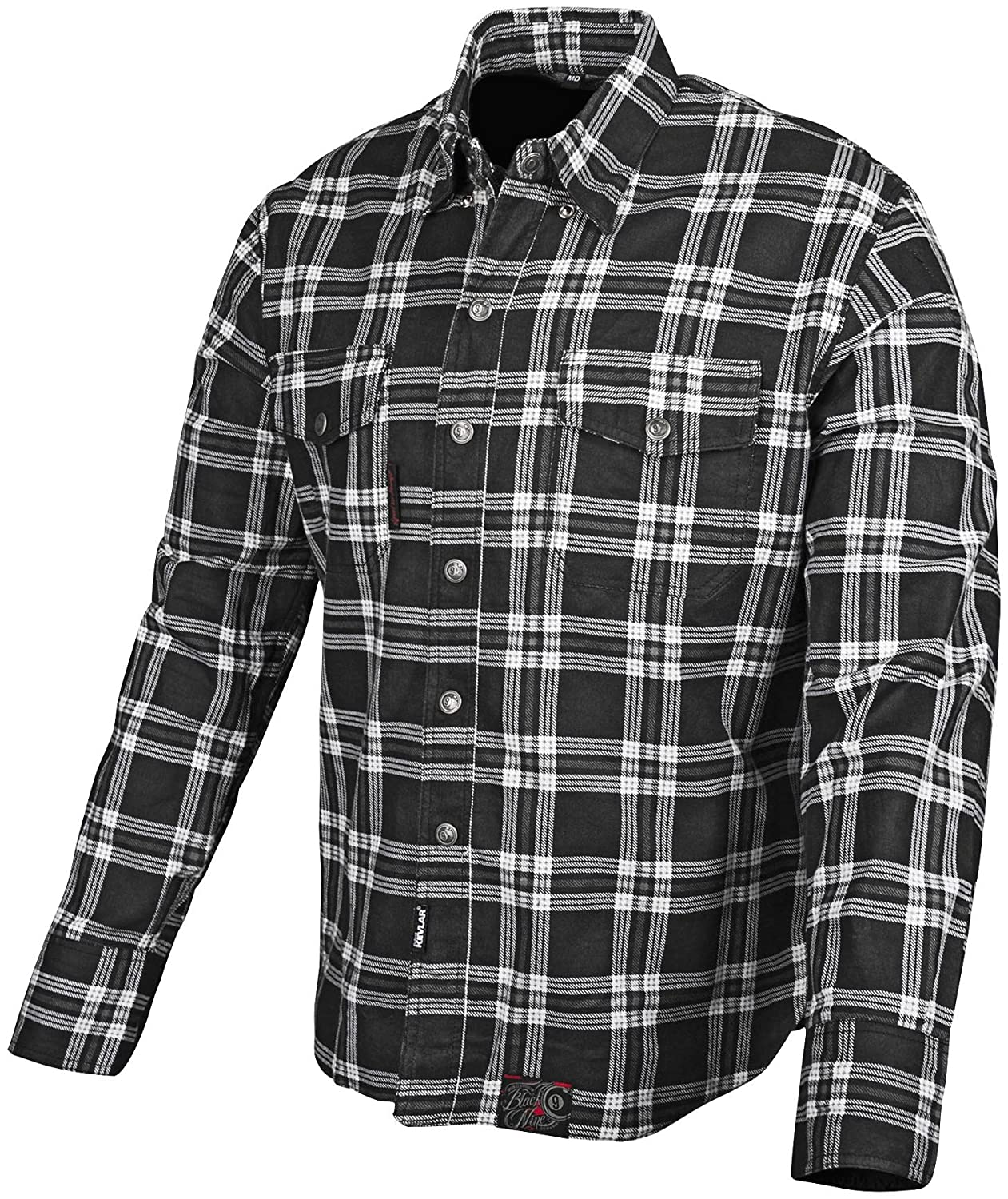 Speed and Strength Black Nine Mens Reinforced Moto Shirt Black, XX-Large