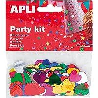 APLI - Bolsa confeti corazones colores 15 mm