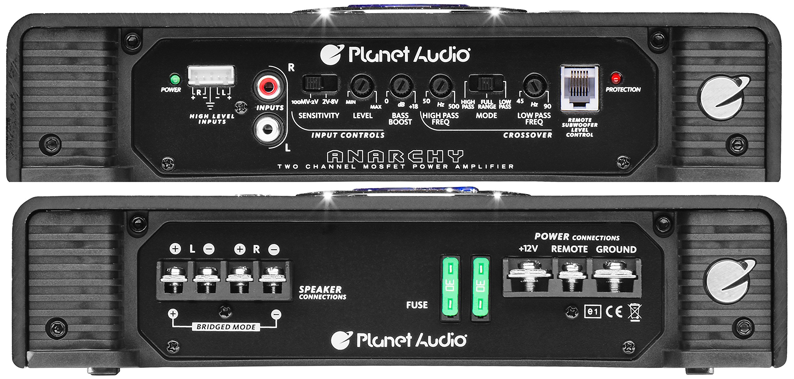 Planet Audio AC2600.2 Anarchy 2600 Watt, 2 Channel, 2/4 Ohm Stable Class A/B, Full Range, Bridgeable, MOSFET Car Amplifier with Remote Subwoofer Control by Planet Audio (Image #6)