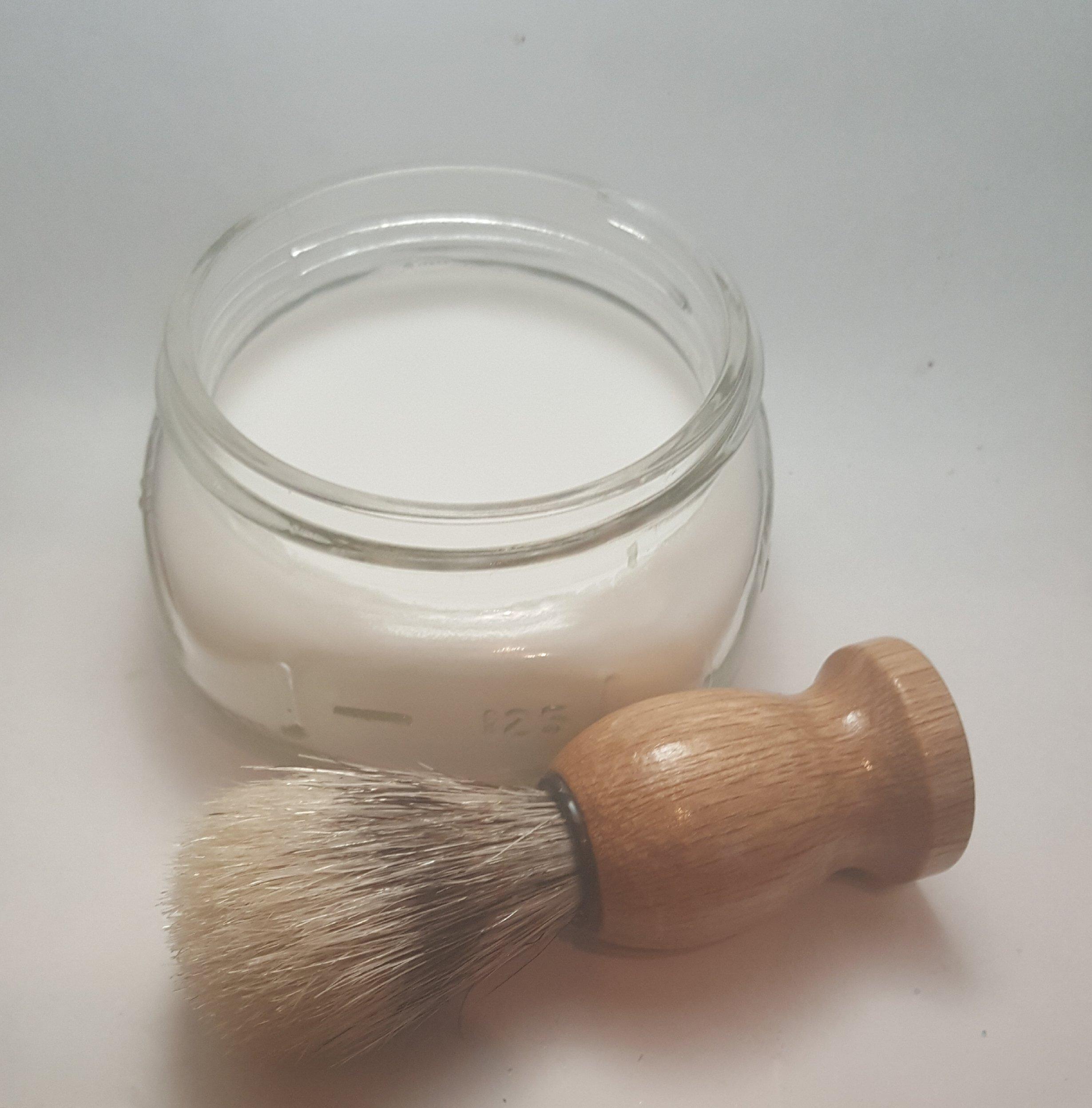 Men's Shaving Soap with Lather Brush