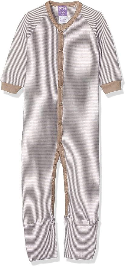 Pijama con o sin pies 100% algodón orgánico (92, Taupe/white striped): Amazon.es: Ropa y accesorios