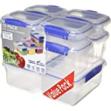 Sistema Klip It 1815 10 Pack Food Storage Container, Clear