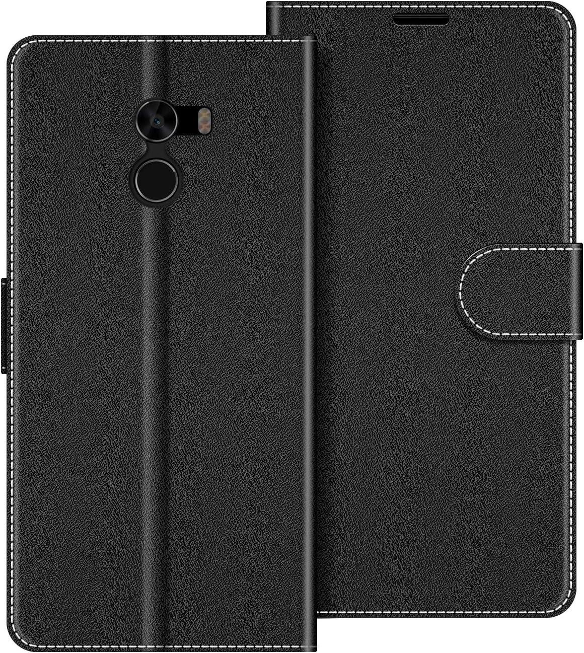 COODIO Funda Xiaomi Mi Mix 2 con Tapa, Funda Movil Xiaomi Mi Mix 2, Funda Libro Xiaomi Mi Mix 2 Carcasa Magnético Funda para Xiaomi Mi Mix 2, Negro