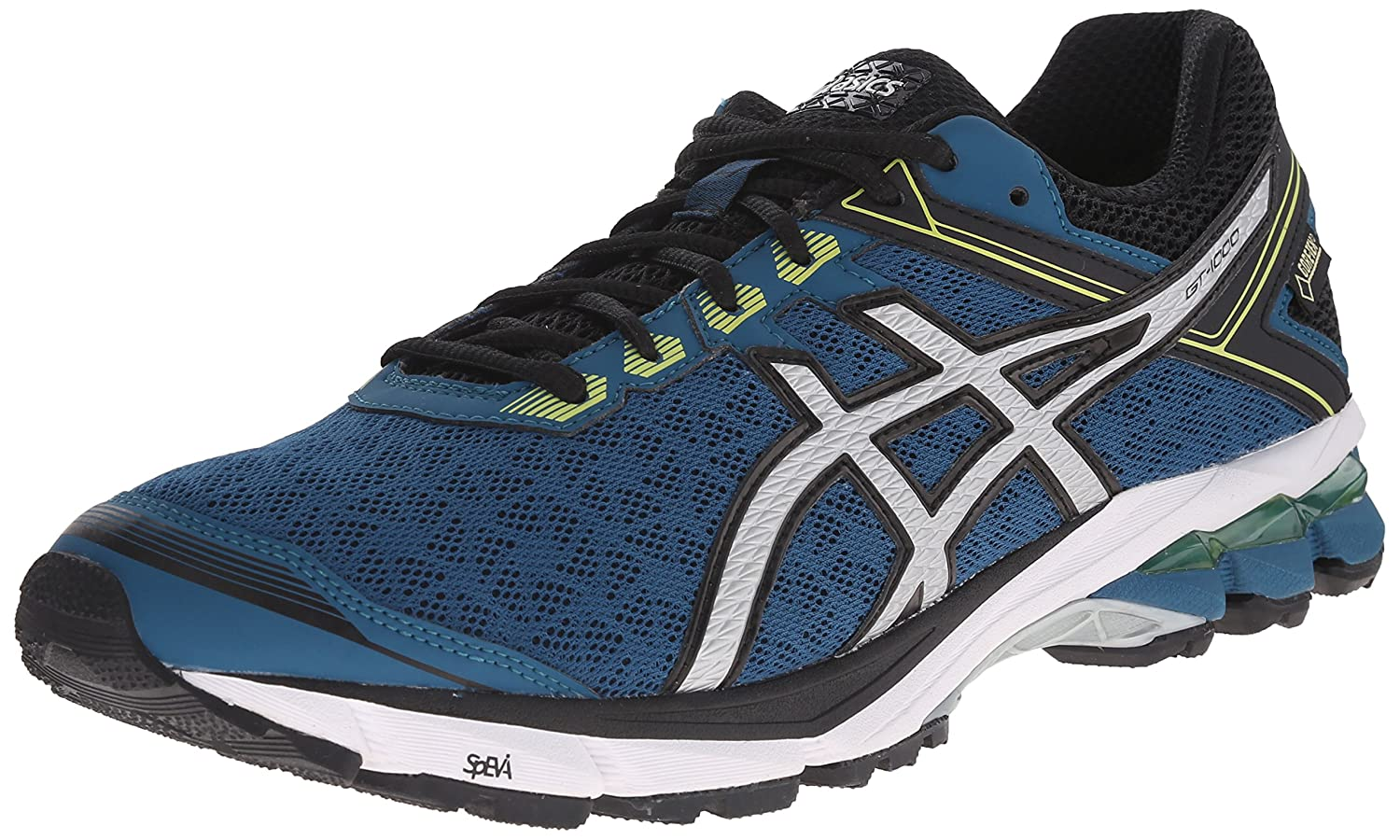 Amazon.com | ASICS Men's GT 1000 4 G TX Running Shoe, Mosaic  Blue/Silver/Lime, 8.5 M US | Road Running