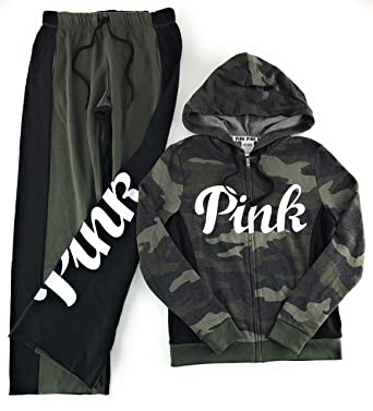f55a0b6259 Victoria s Secret PINK Hoodie and Sweat Pants Set at Amazon Women s  Clothing store