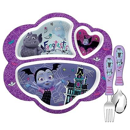 Amazon Com Zak Designs Vmpa 2070 Amz Disney Jr Kids Dinnerware