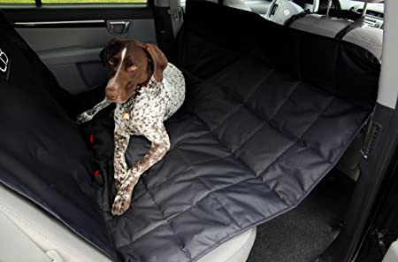 Scratch Proof Water Resistant Padded and Quilted Car Seat Covers for Pets Black X-Large Quaker Pet Group 5060328-700988 Petego Ultra Durable