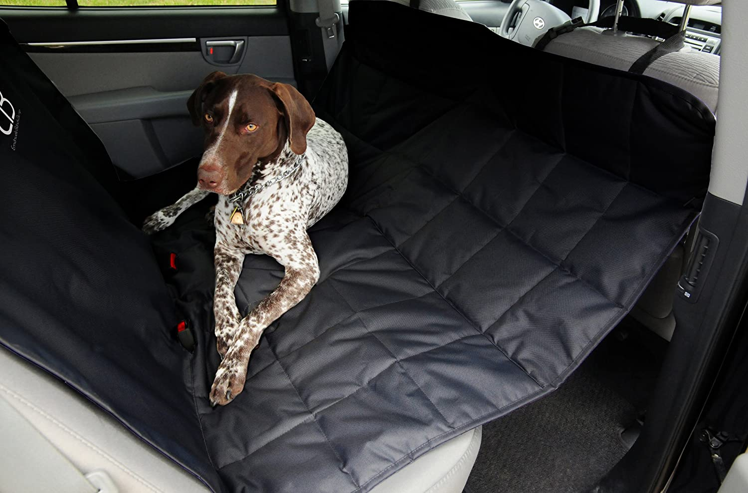 suede auto quilted cover back car travel safety product access hammock belt covers dog seat