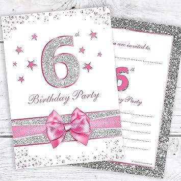 6th Birthday Party Invitations