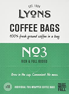 Lyons No2 Good Morning Coffee Bags 125g Case Of 4