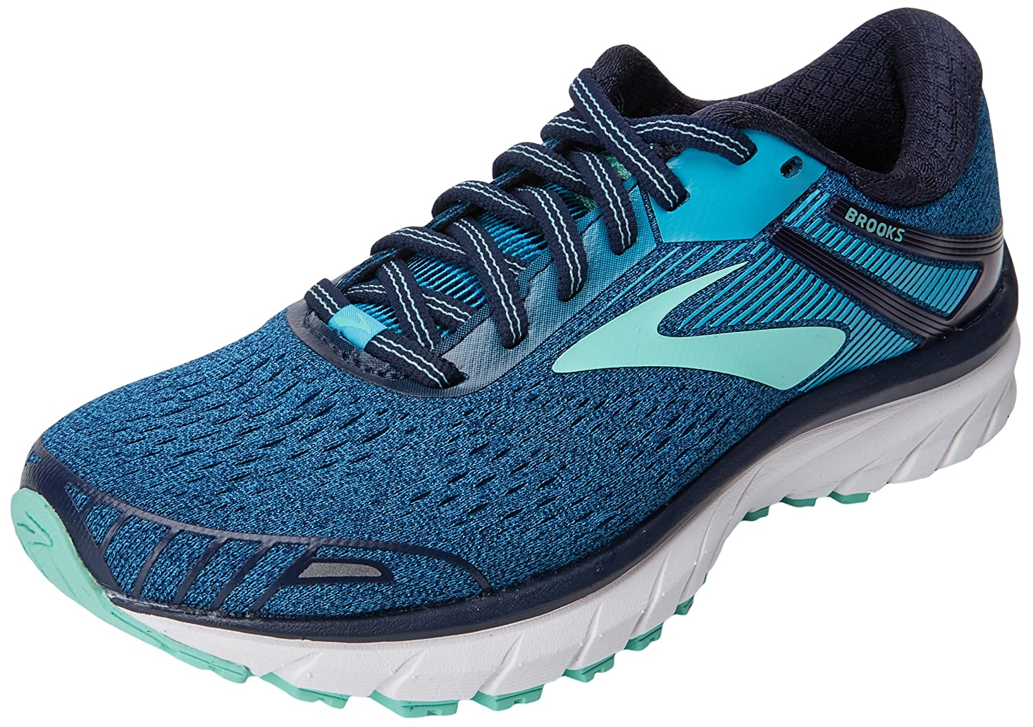 Brooks Womens Adrenaline GTS 18 B072BNFQQT 10.5 AA US|Navy/Teal/Mint