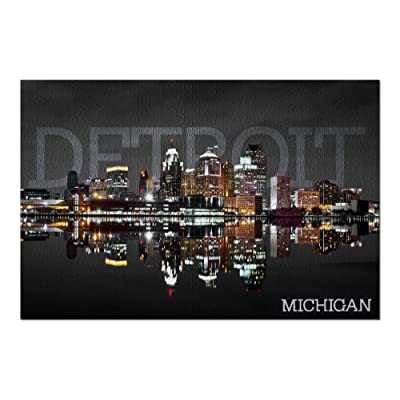 Detroit, Michigan - City at Night (Premium 1000 Piece Jigsaw Puzzle for Adults, 20x30, Made in USA!): Toys & Games