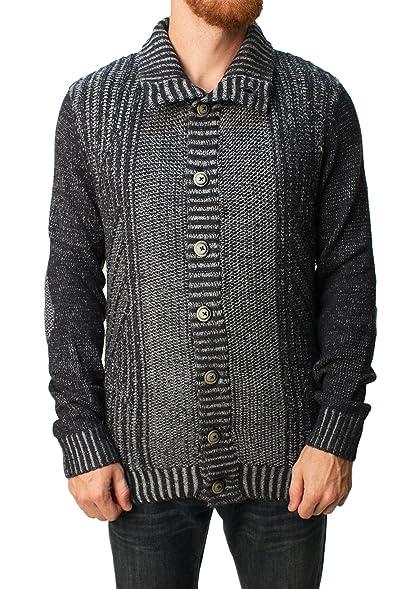 RetroFit Men's Knit Button Down Turtleneck Sweater at Amazon Men's ...