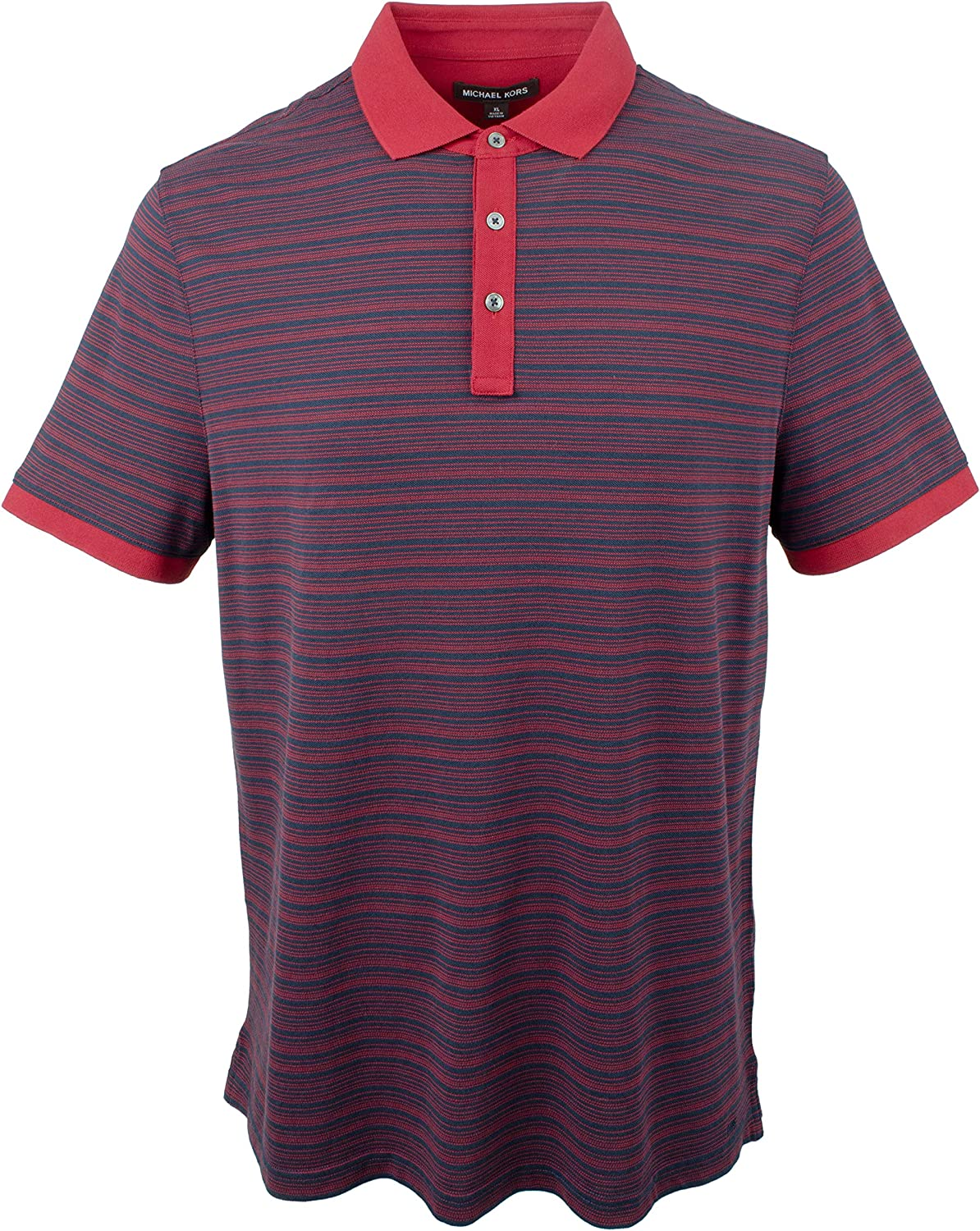 Michael Kors Mens Striped Silk Blend Polo Shirt-M-S: Amazon.es ...