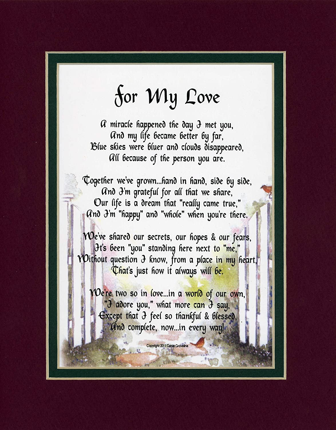 Genies Poems A Birthday Gift For A Husband Or Wife 84a Poem For The Love Of Your Life