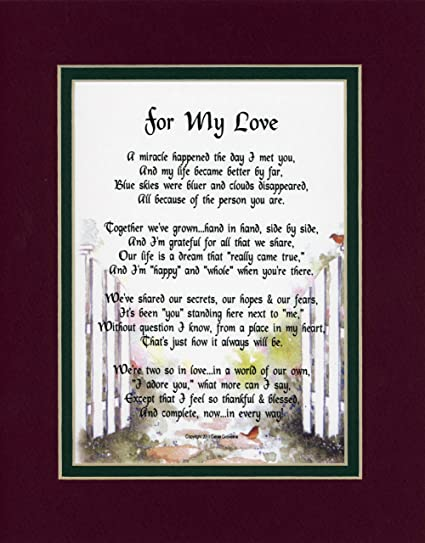 a christmas present birthday gift for a husband or wife 84a poem for the love