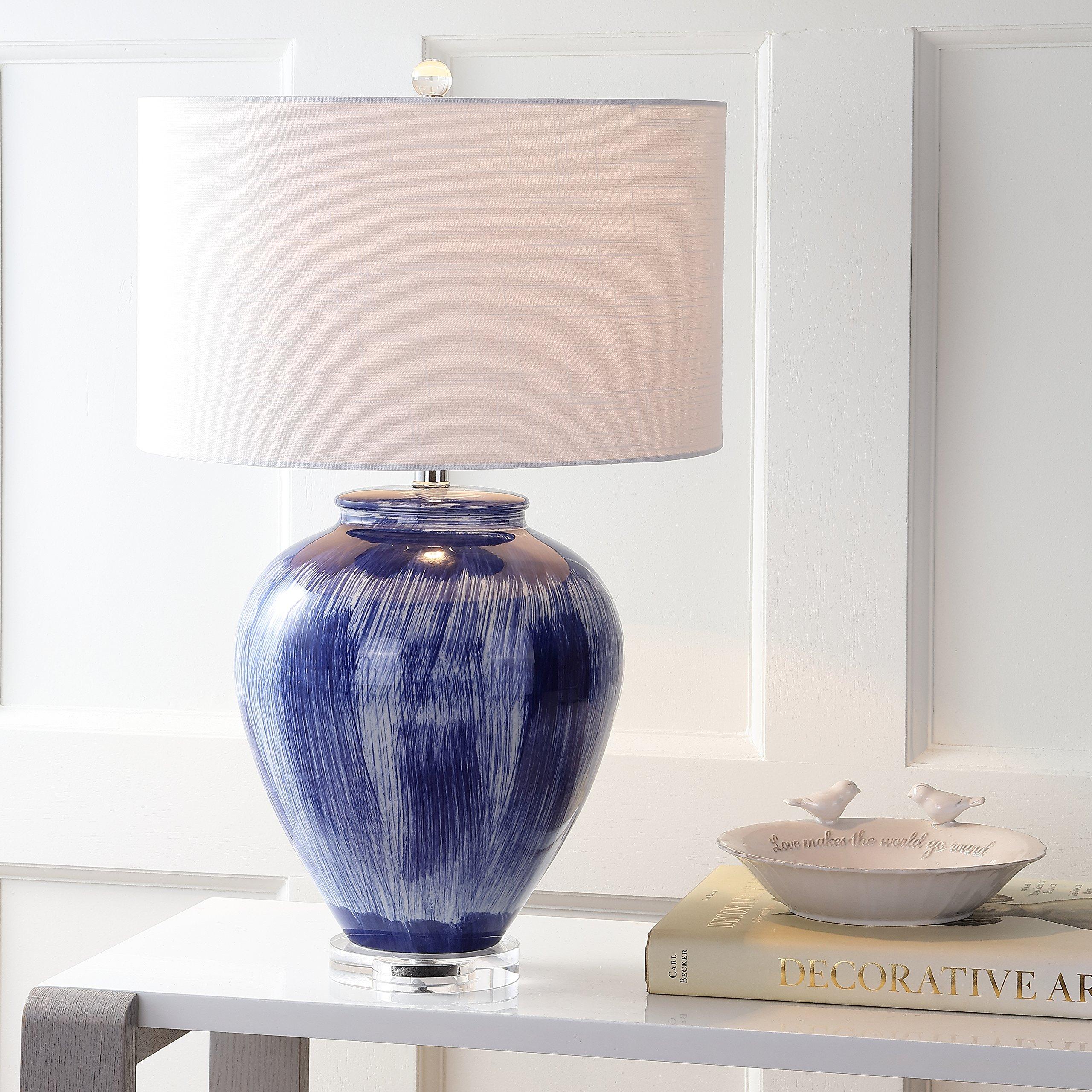 JONATHAN Y JYL5013A Wayland 26'' Ceramic Table Lamp, Seaside Blue