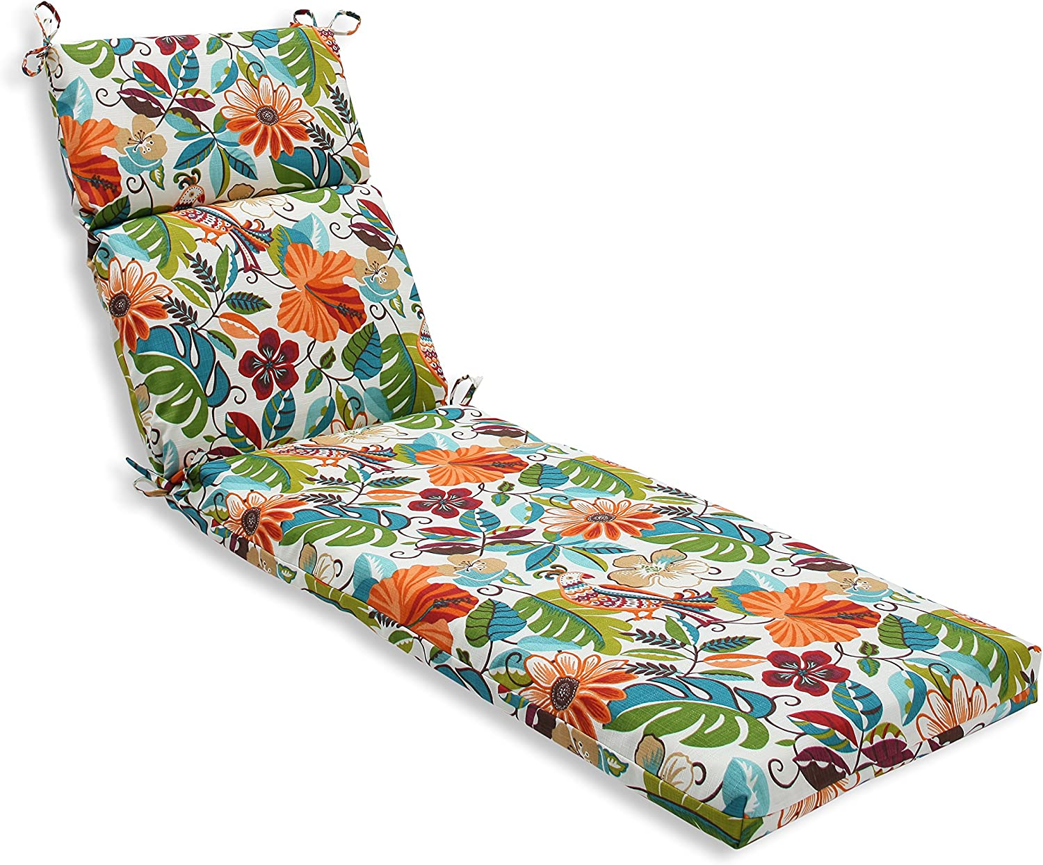 Pillow Perfect Outdoor Indoor Lensing Jungle Chaise Lounge Cushion