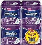 Always - Ultra Long Serviette Hygiénique avec Ailettes Quattro Pack