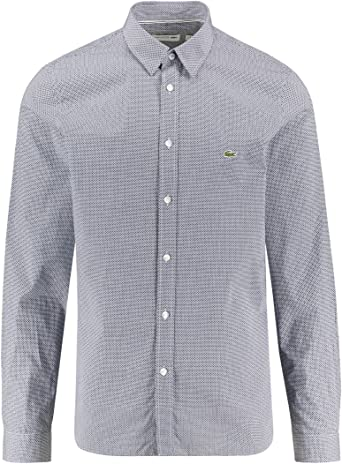 Lacoste CH6287 Hombre Camisa Manga Larga, de Caballero Camisa, con ...