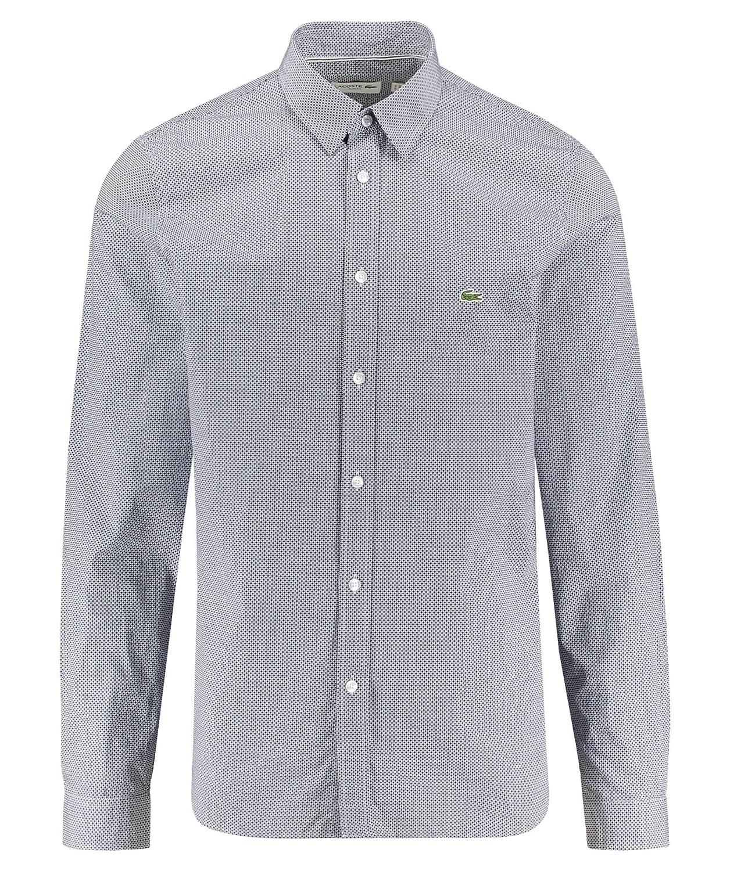 Lacoste CH6287 Hombre Camisa Manga Larga,de Camisa,Botones,a Cuadros,Ajustado