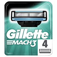 Gillette Mach3 Razor Blades for Men, 4 Refills