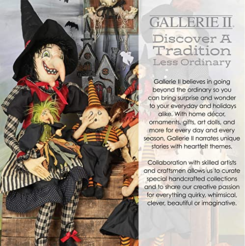GALLERIE II Fiorella Witch Joe Spencer Gathered Traditions Art Doll Red