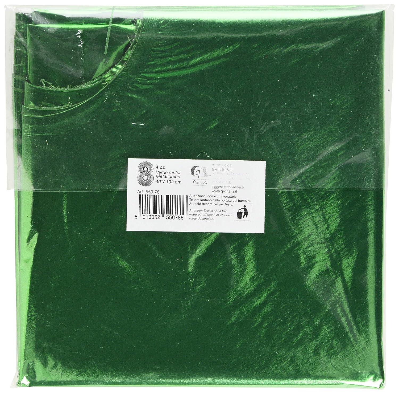 Givi Italia 55978 4 Mylar Balloons Nr. 8 metallo cm. 102, verde