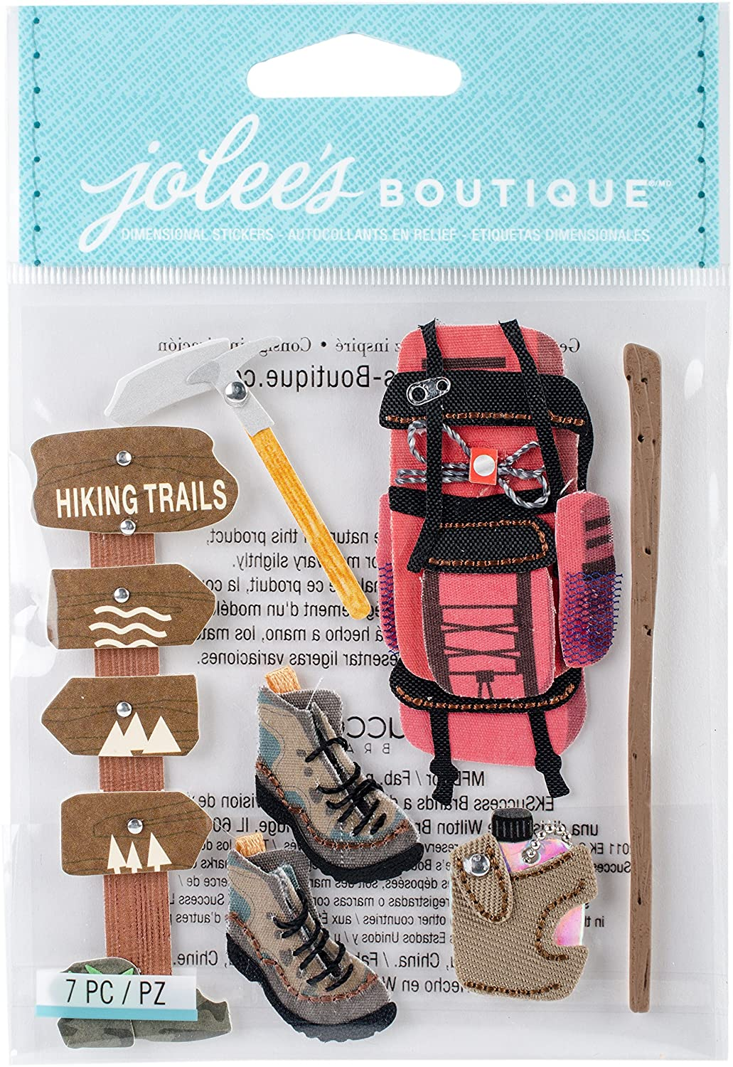 Jolee's Boutique Dimensional Stickers-Hiking Trip Jolees 364166