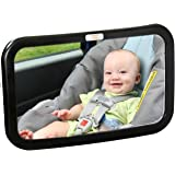 Baby Caboodle Backseat Baby Mirror — Extra Large — Ideal for Rear-Facing Infant Car Seats — Adjustable, 360 Degree View — Crystal Clear Viewing — Shatterproof